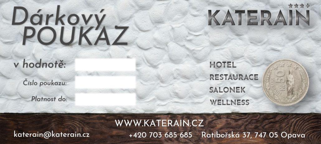 dárkový poukaz hotelu Katerain Opava