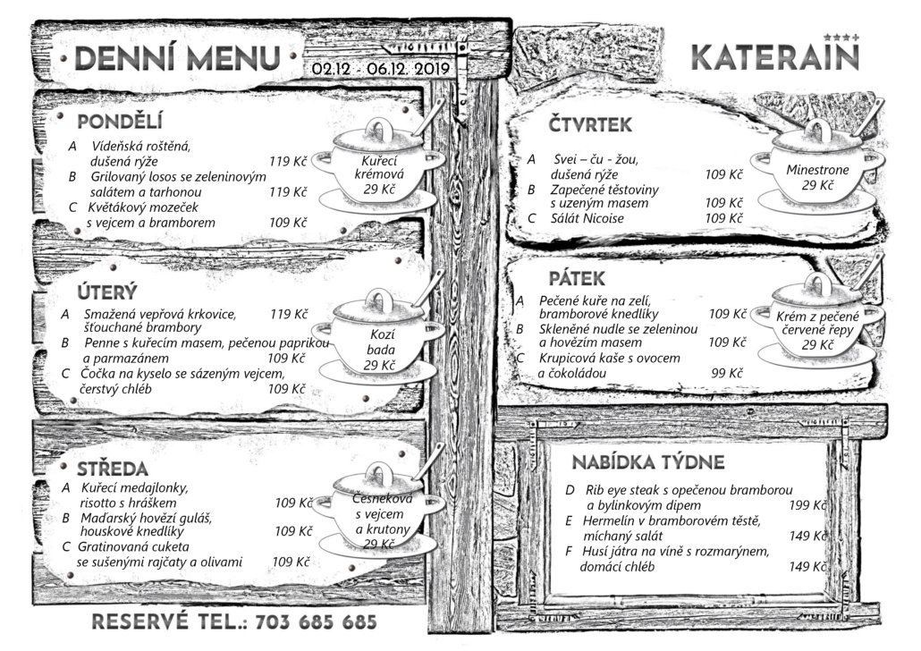 Týdenní menu 02.12. - 06.12.2019